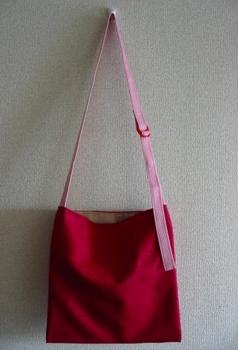 牡丹色羽織バッグ+白レース_後.JPG